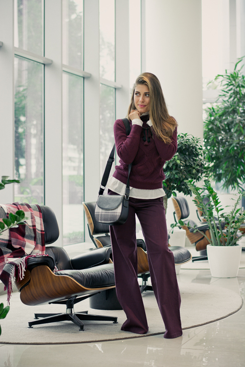 Benetton Burgundy Fall Layering Denina Martin Bulgaria Mall