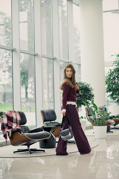 Benetton Burgundy Fall Layering Denina Martin at Infinity Tower