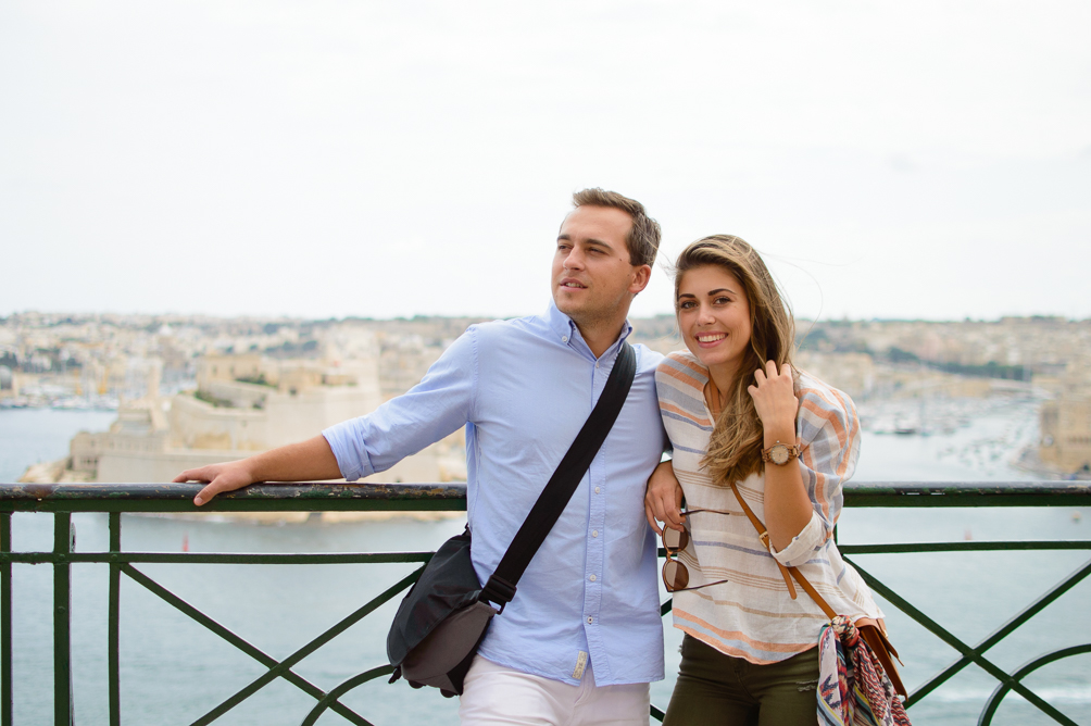 Couple Ruslan and Denina Exploring Malta City of Valletta