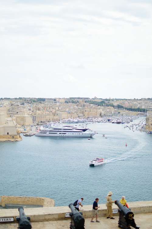 Exploring Malta city of Valletta harbour