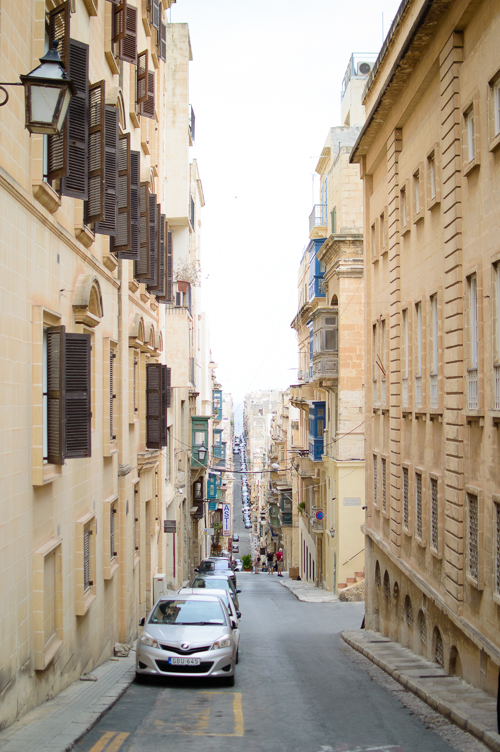 Exploring Malta city of Valletta streets