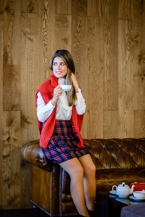 Pepe jeans plaid skirt bulgarian blogger DeninaMartin