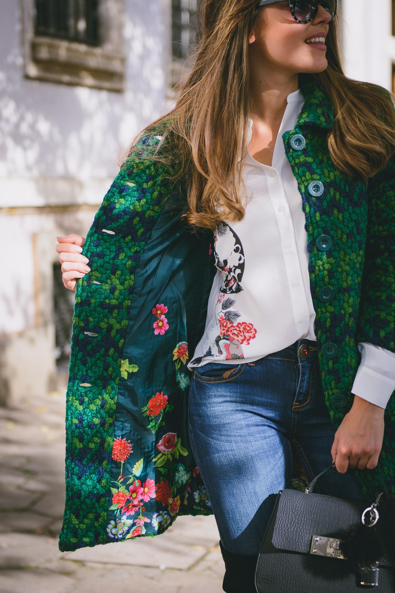 Desigual coat 2016 blogger