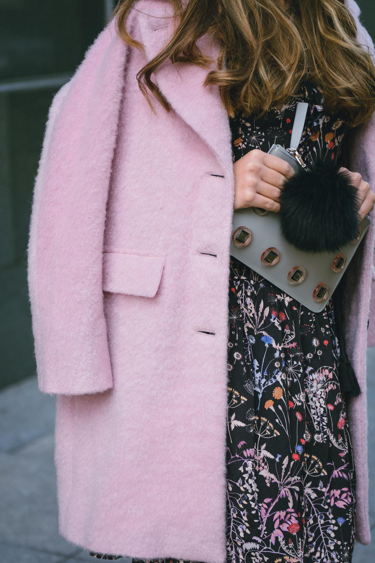 pink coat details max&co