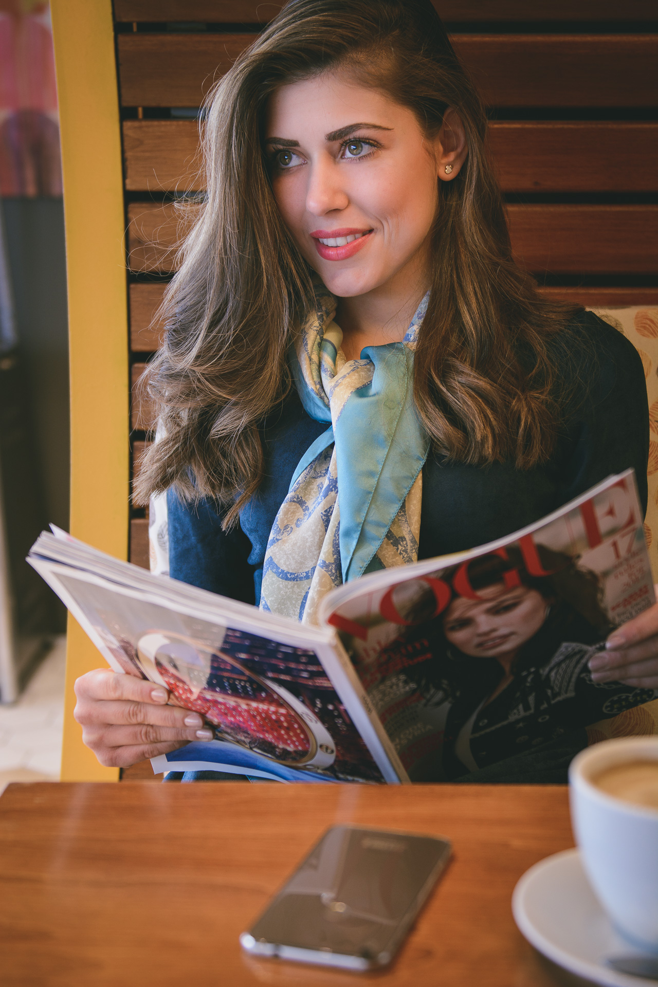 Coffee time browsing Vogue