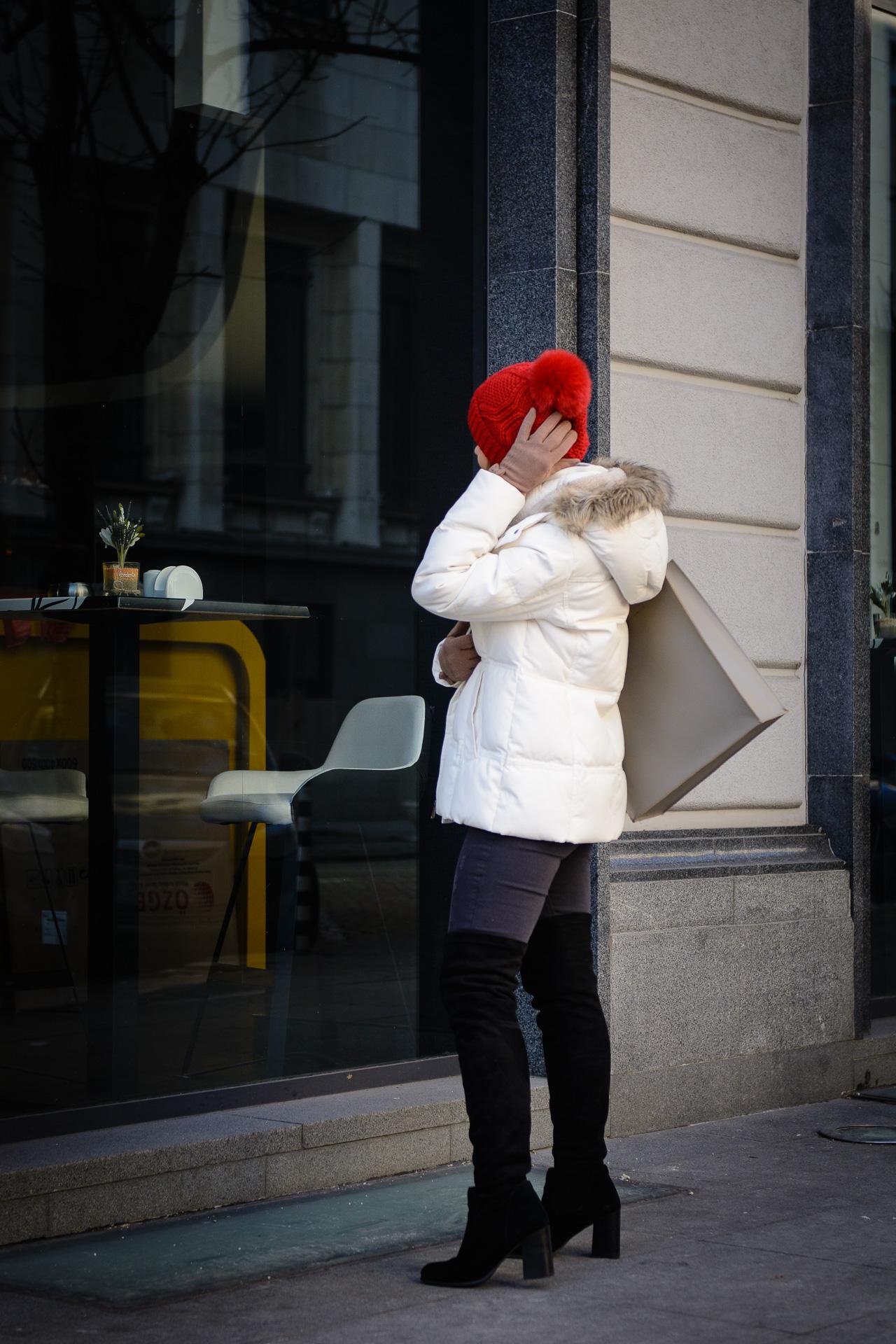 Esprit white parka winter