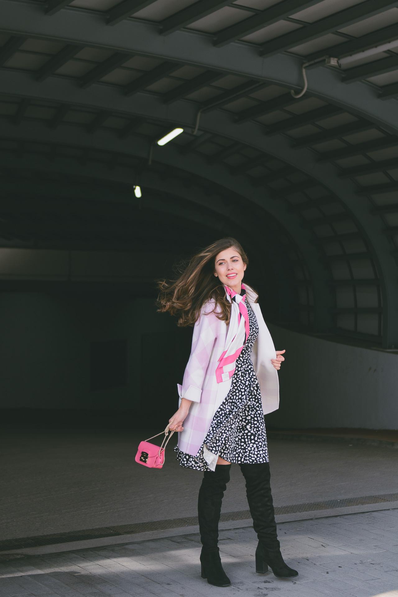 MDL Marella pink print dress