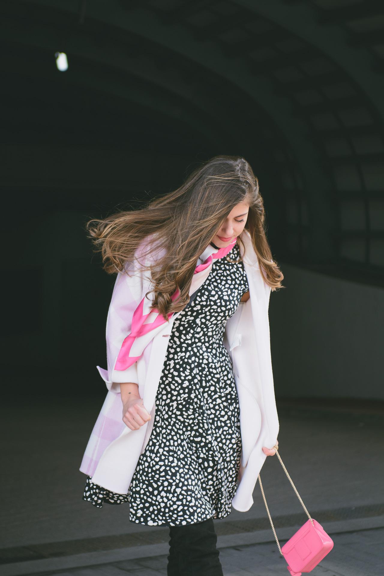 Marella pink print dress