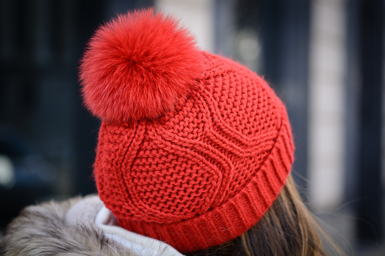 Red Pronta hat beanie