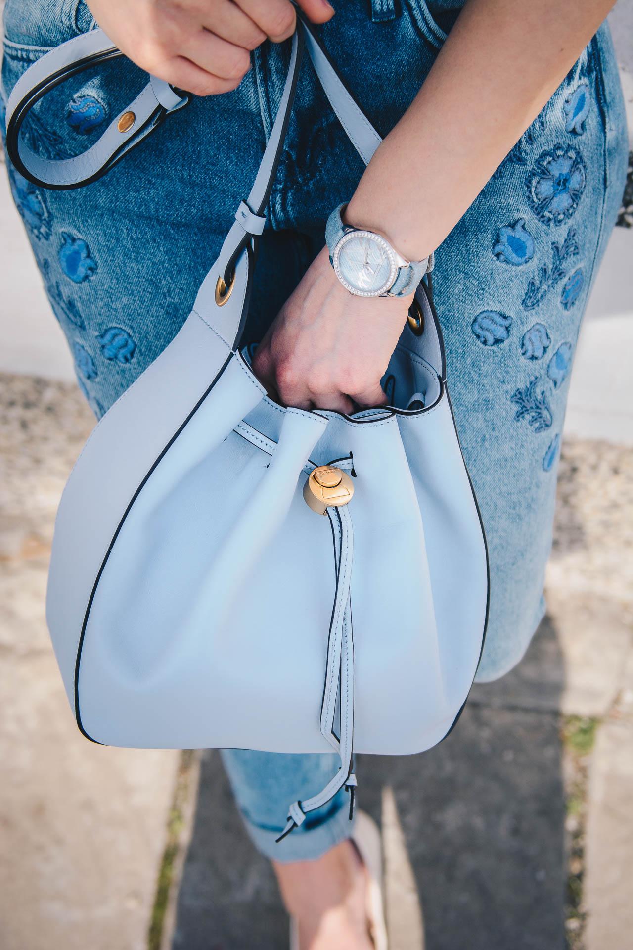 Blue Coccinelle handbag spring summer