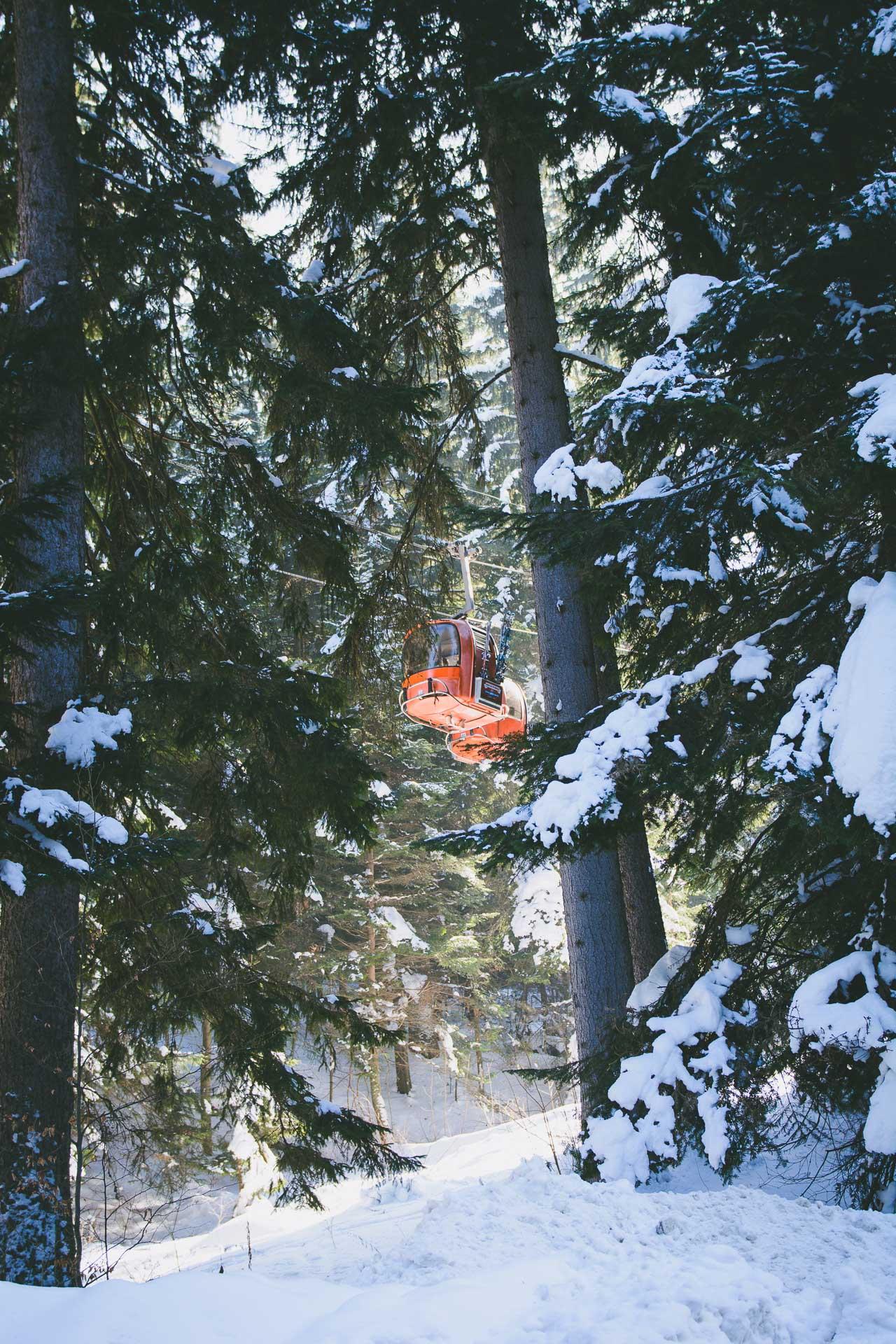 Borovets lift cabin hills