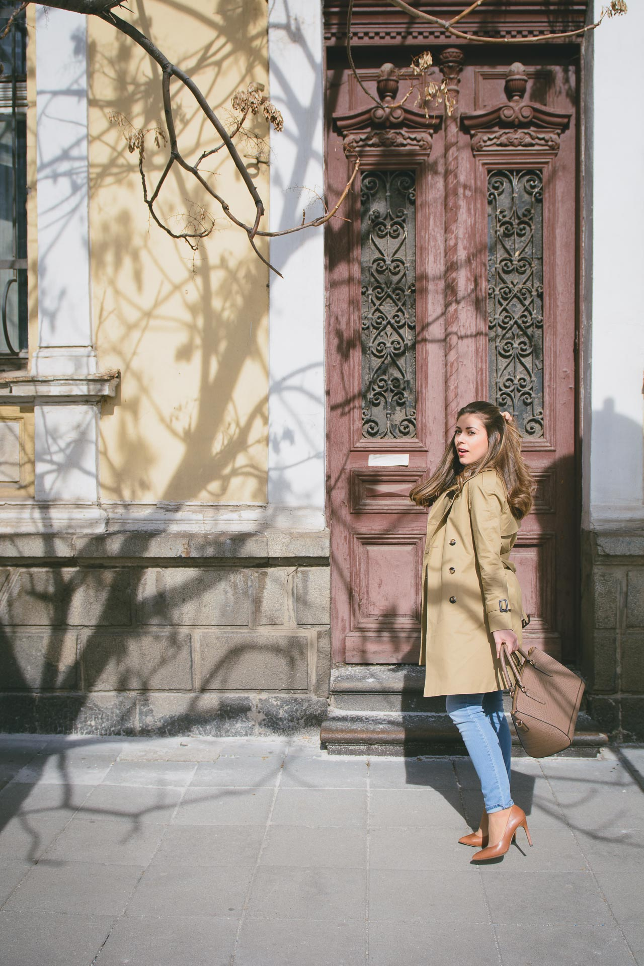 Wearing Tom Tailor trench coat