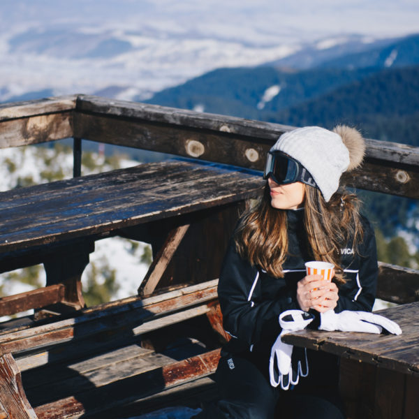 hot tea and mountain view