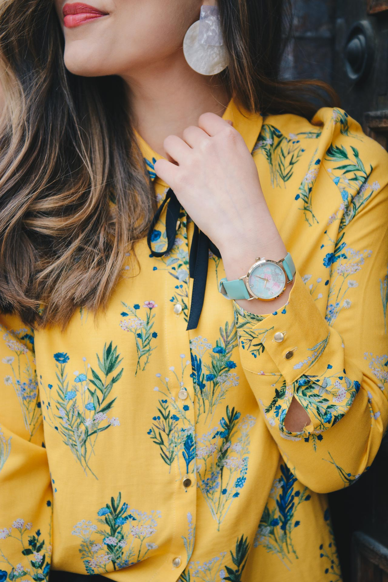 Florals yellow shirt