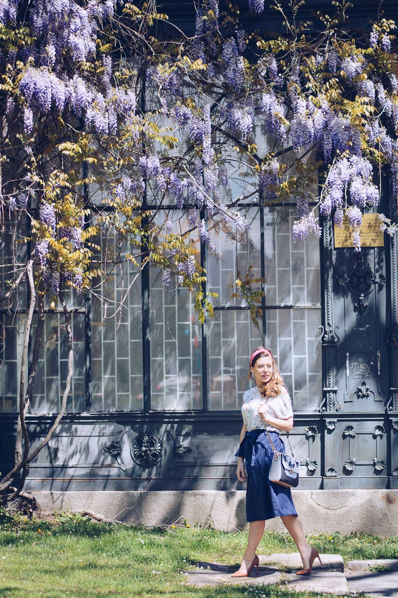 ESPRIT Skirt Pronta bag Spring Outfit