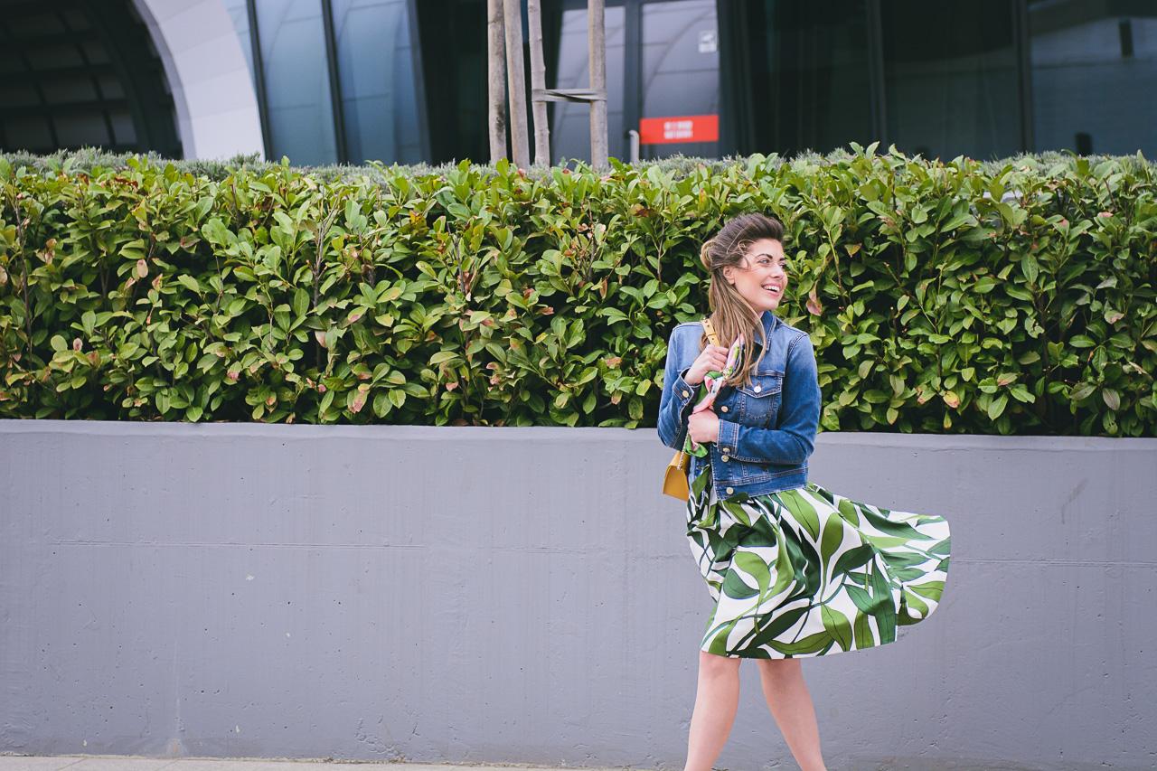 Marc cain leaf dress
