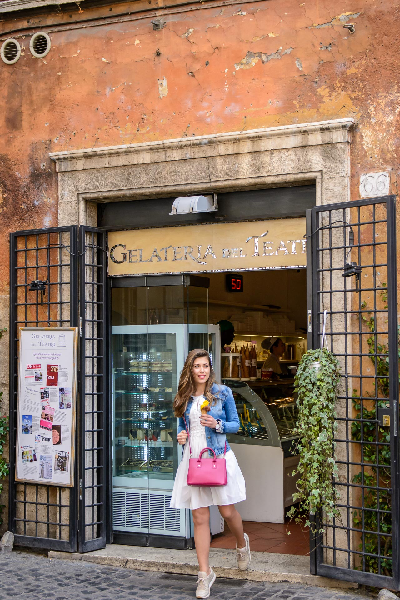 Rome blogger Gelateria del Teatro
