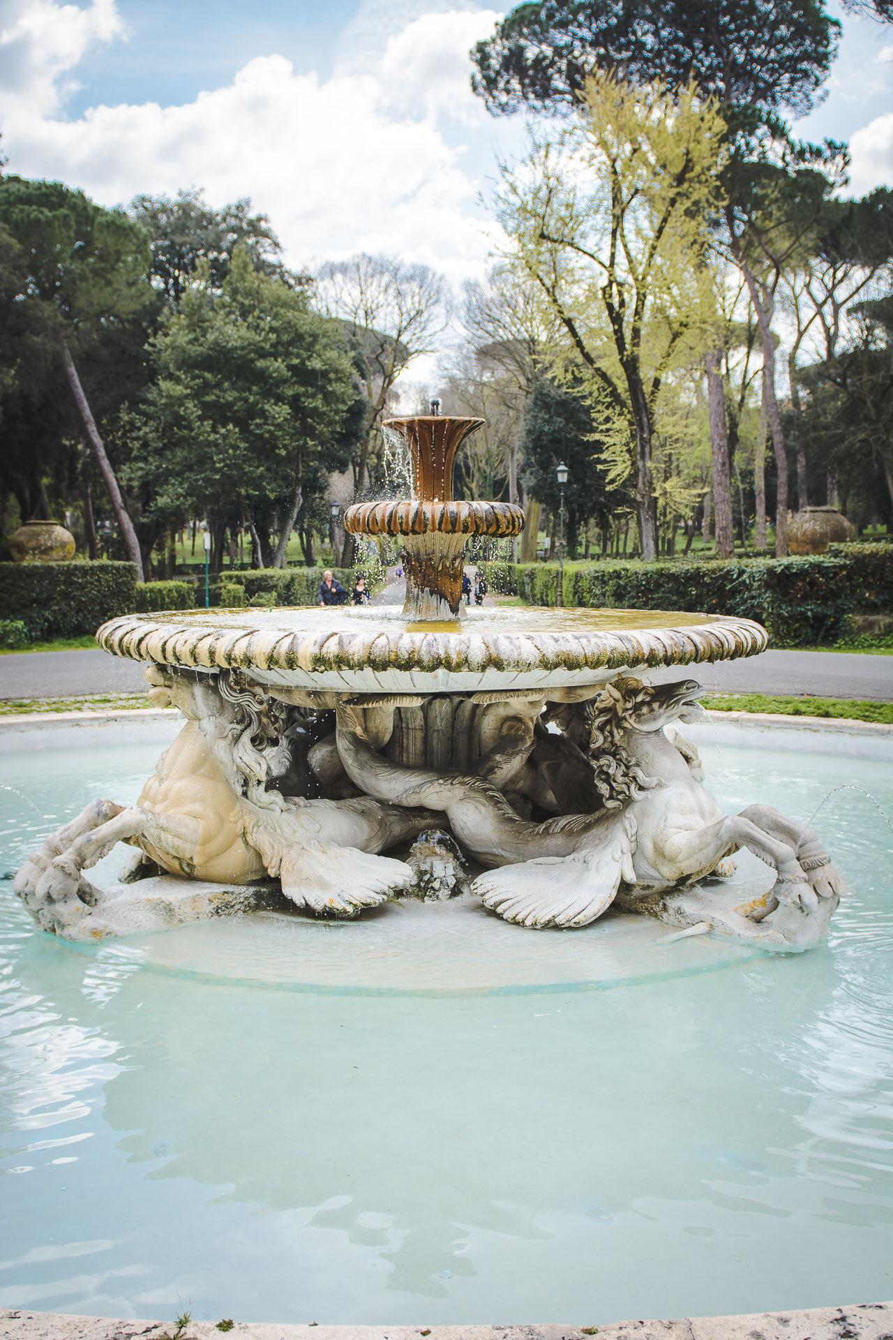 Villa Borghese Park Fountain