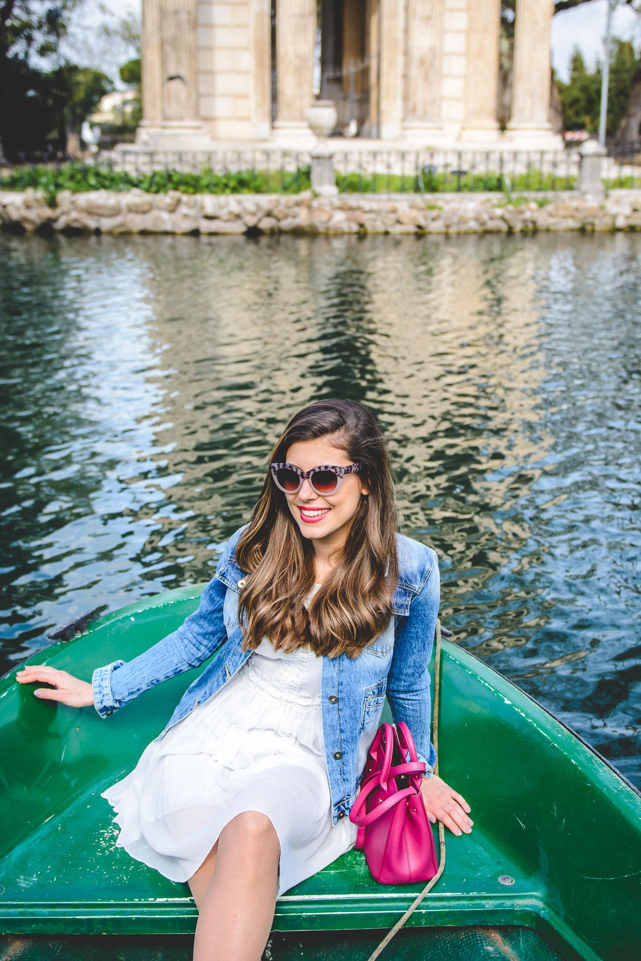 Villa Borghese Park Lake Boat Hire blogger