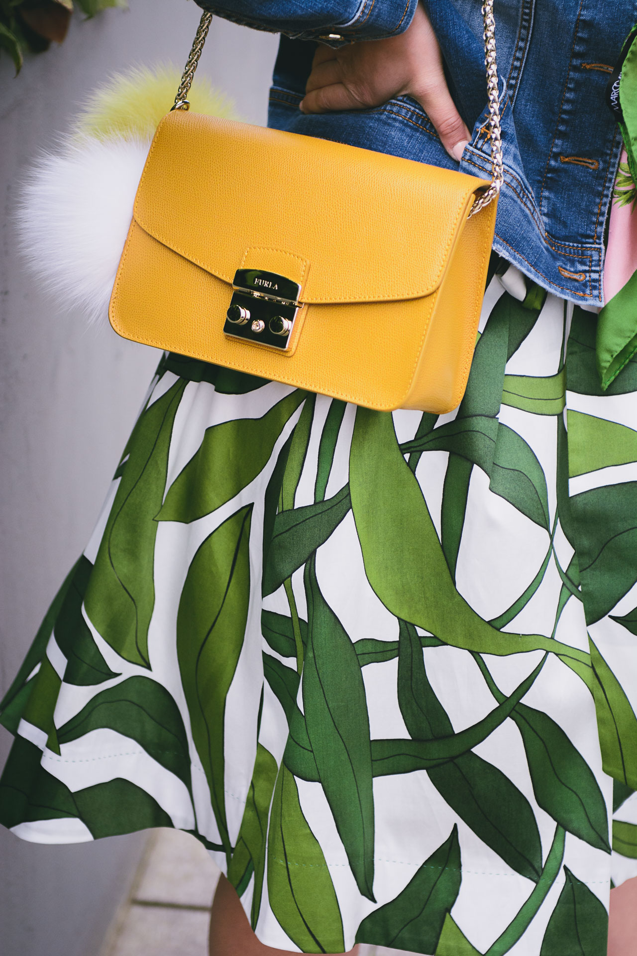 furla metropolis yellow handbag