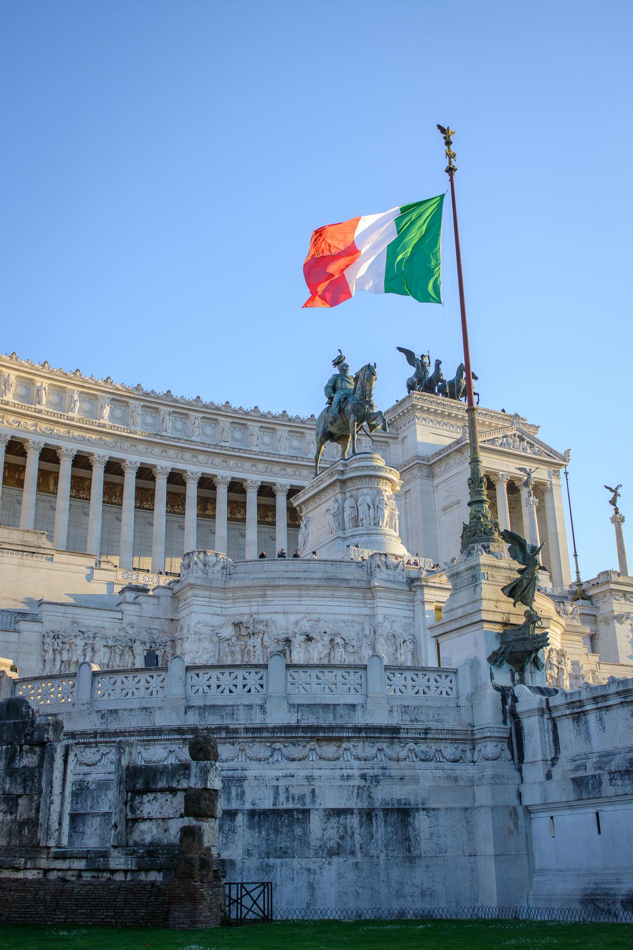 Мonument vittorio emanuele II Rome Italy