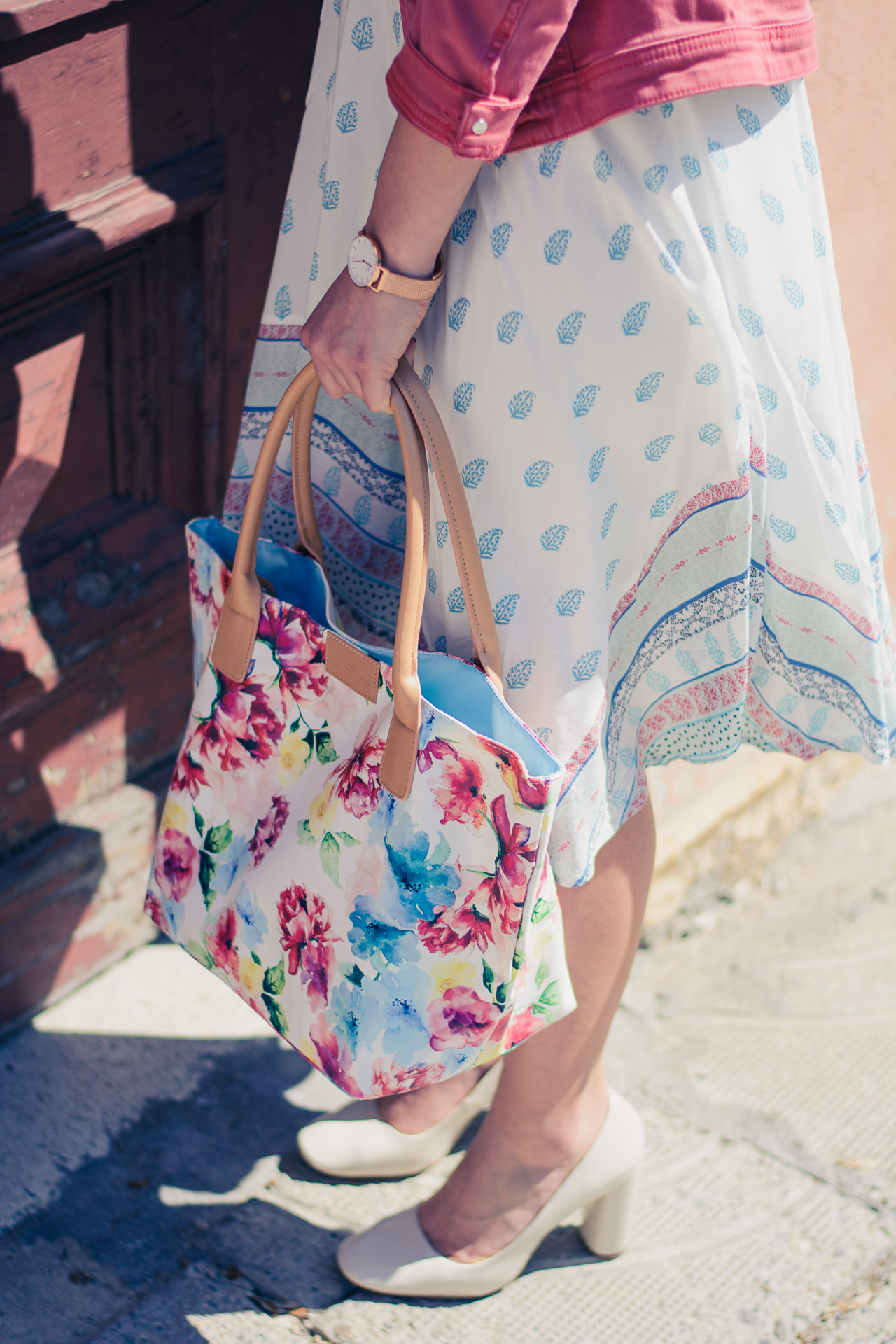 summer floral handbag from tom tailor