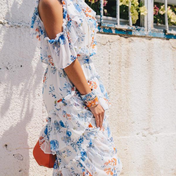 Здравей, летен уикенд! Bulgarian blogger wearing floral dress 22062017