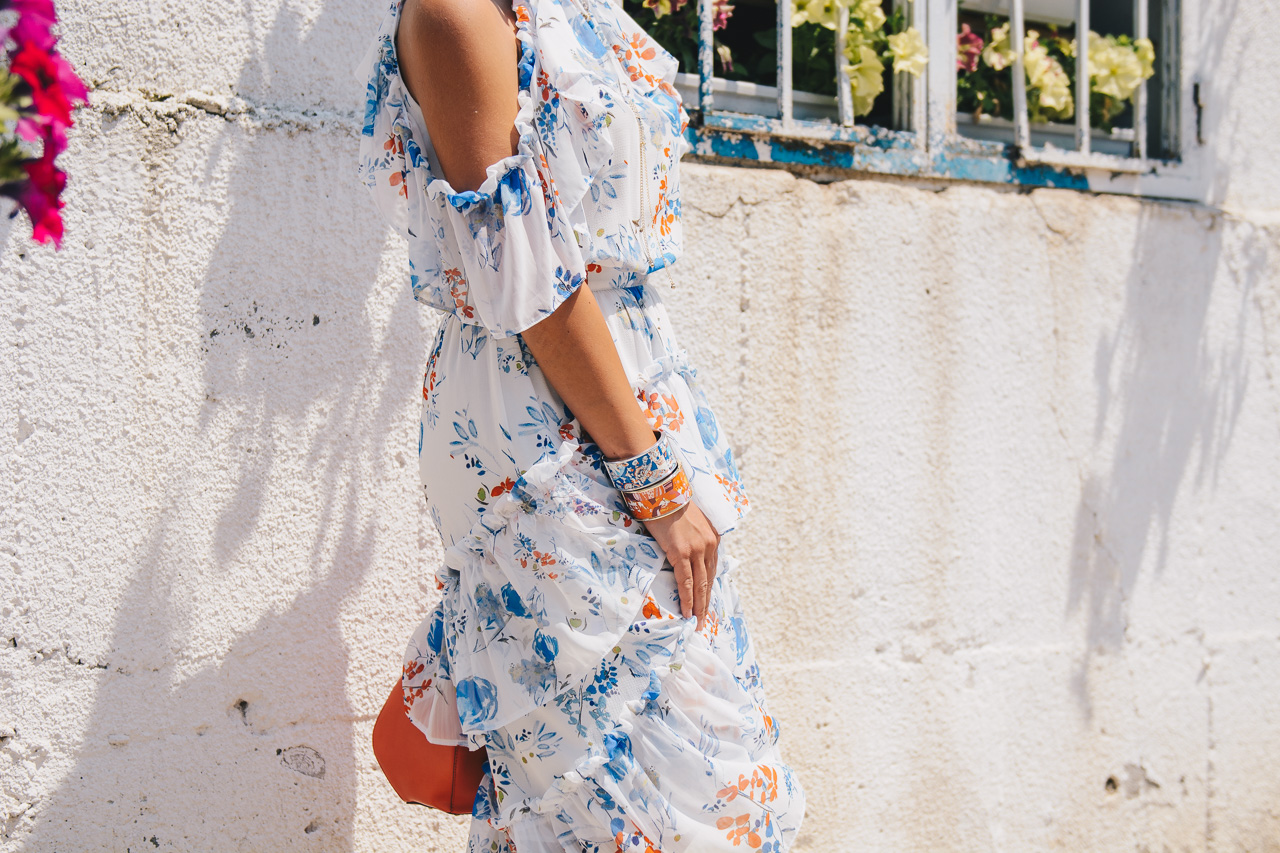 Bulgarian blogger wearing floral dress 22062017