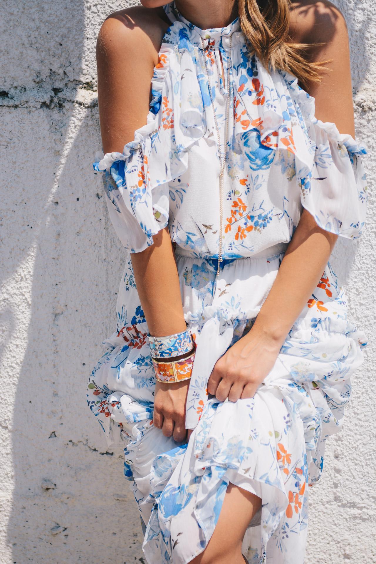 Floral midi dress-blogger