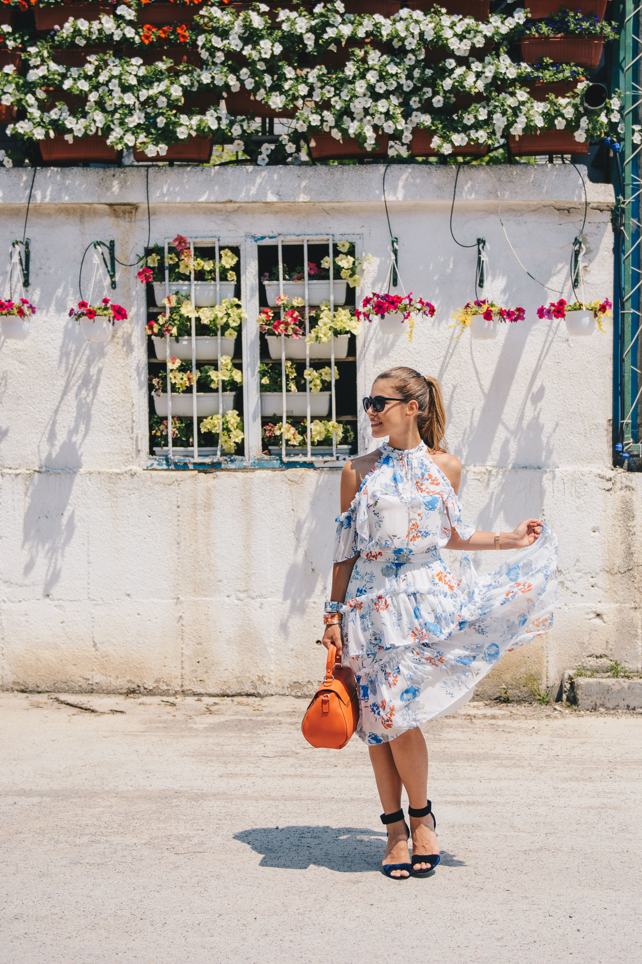 Floral midi dress Catty Bulgaria mall