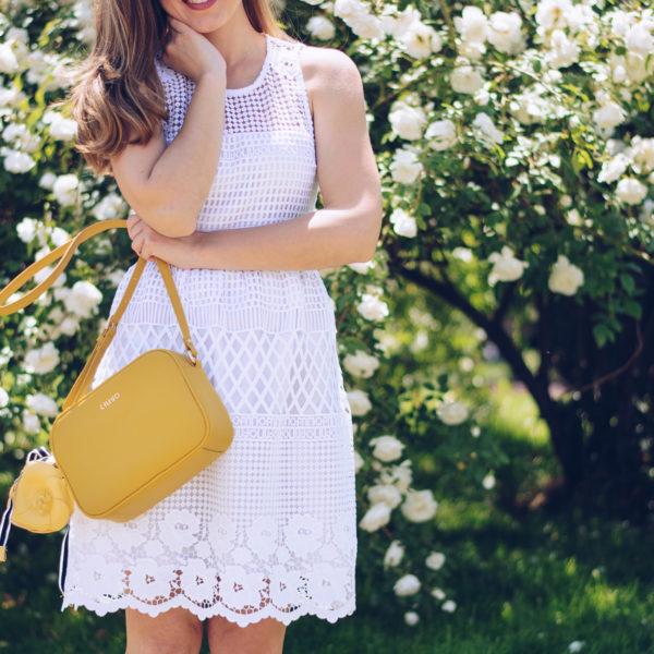 Liu jo бяла рокля lace white dress bulgaria mall