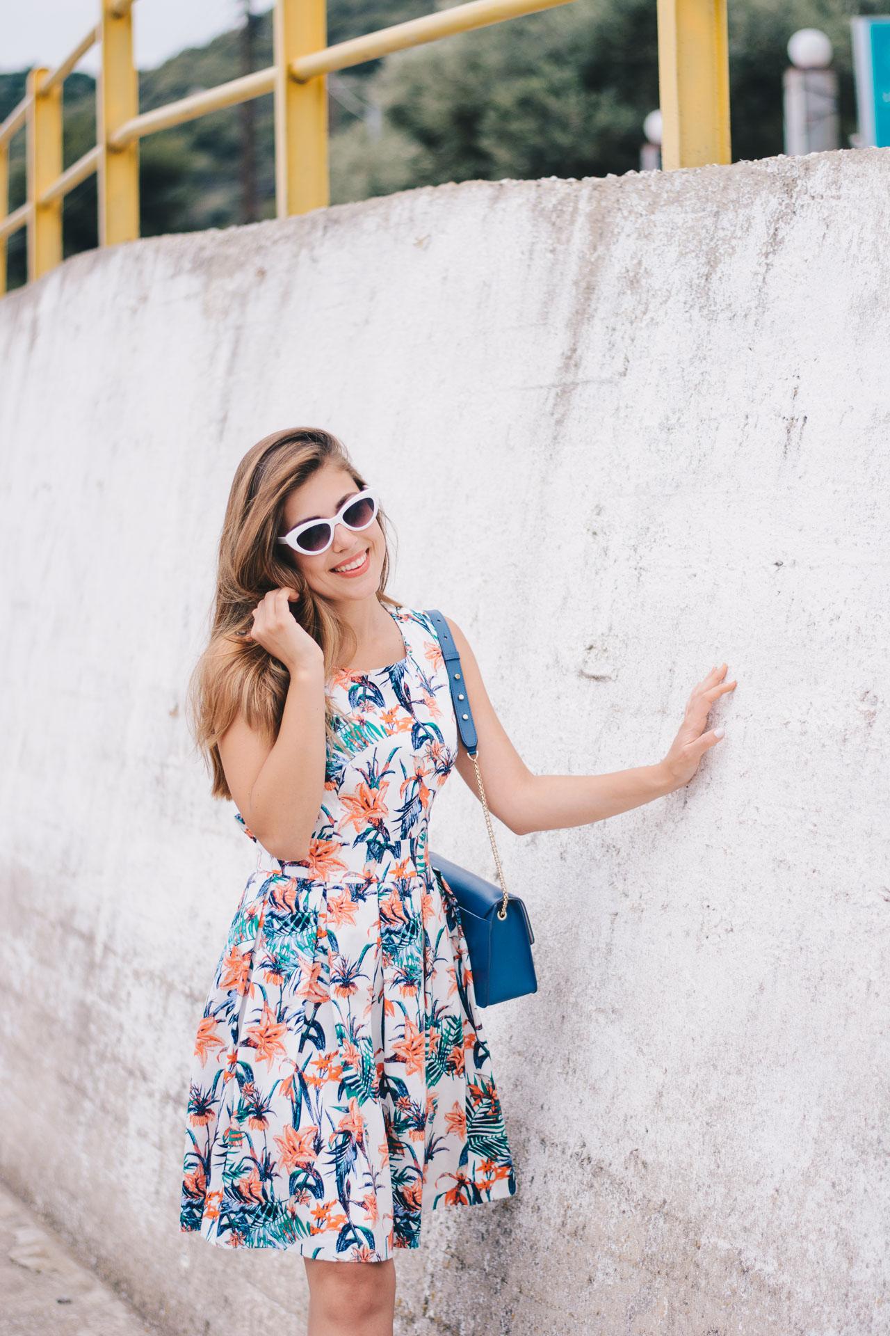 Tom Tailor floral dress blogger