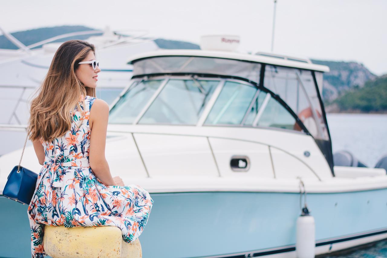 Tom Tailor floral dress porto koufo bay