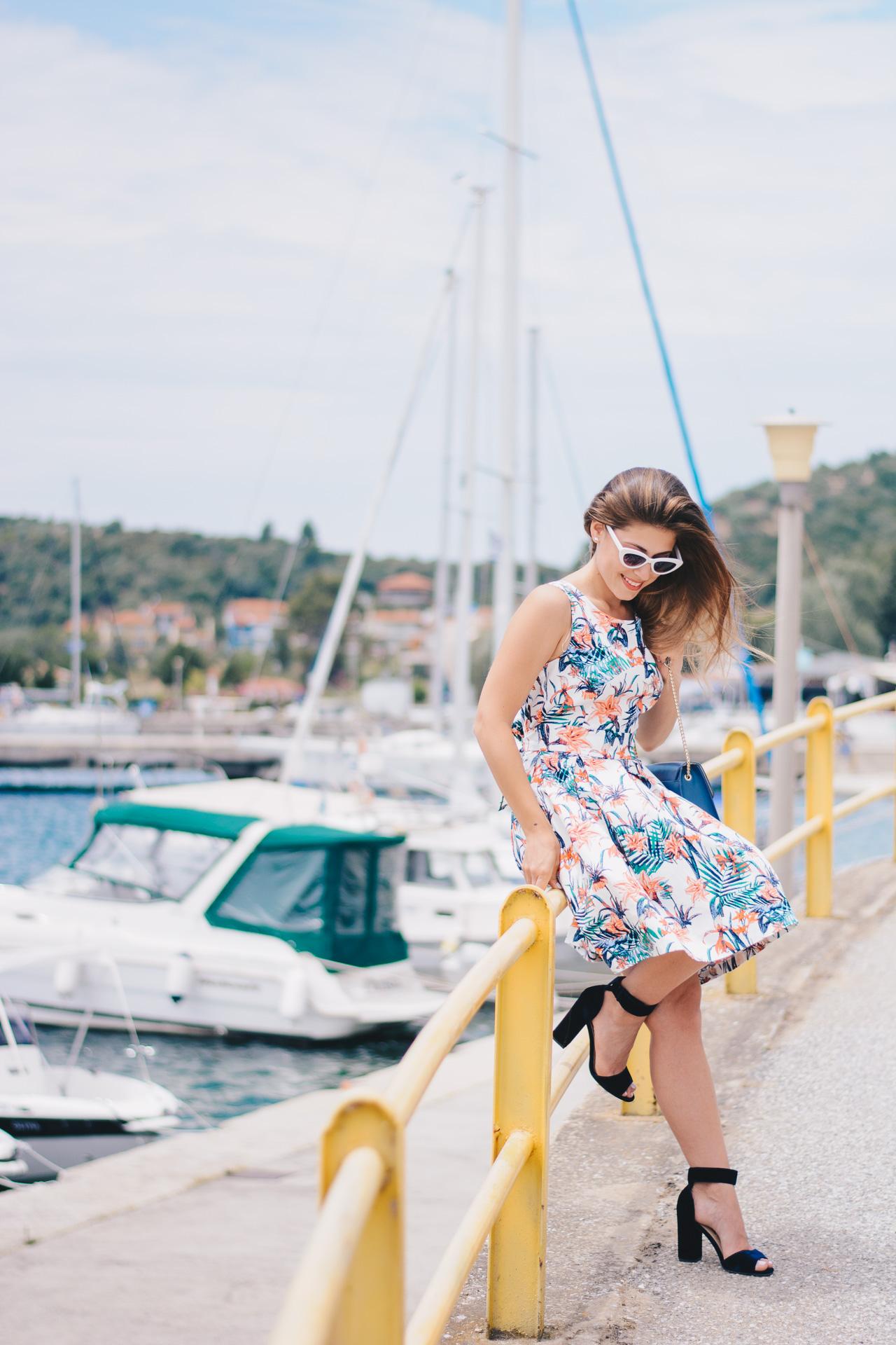Tom Tailor floral dress porto koufo bridge