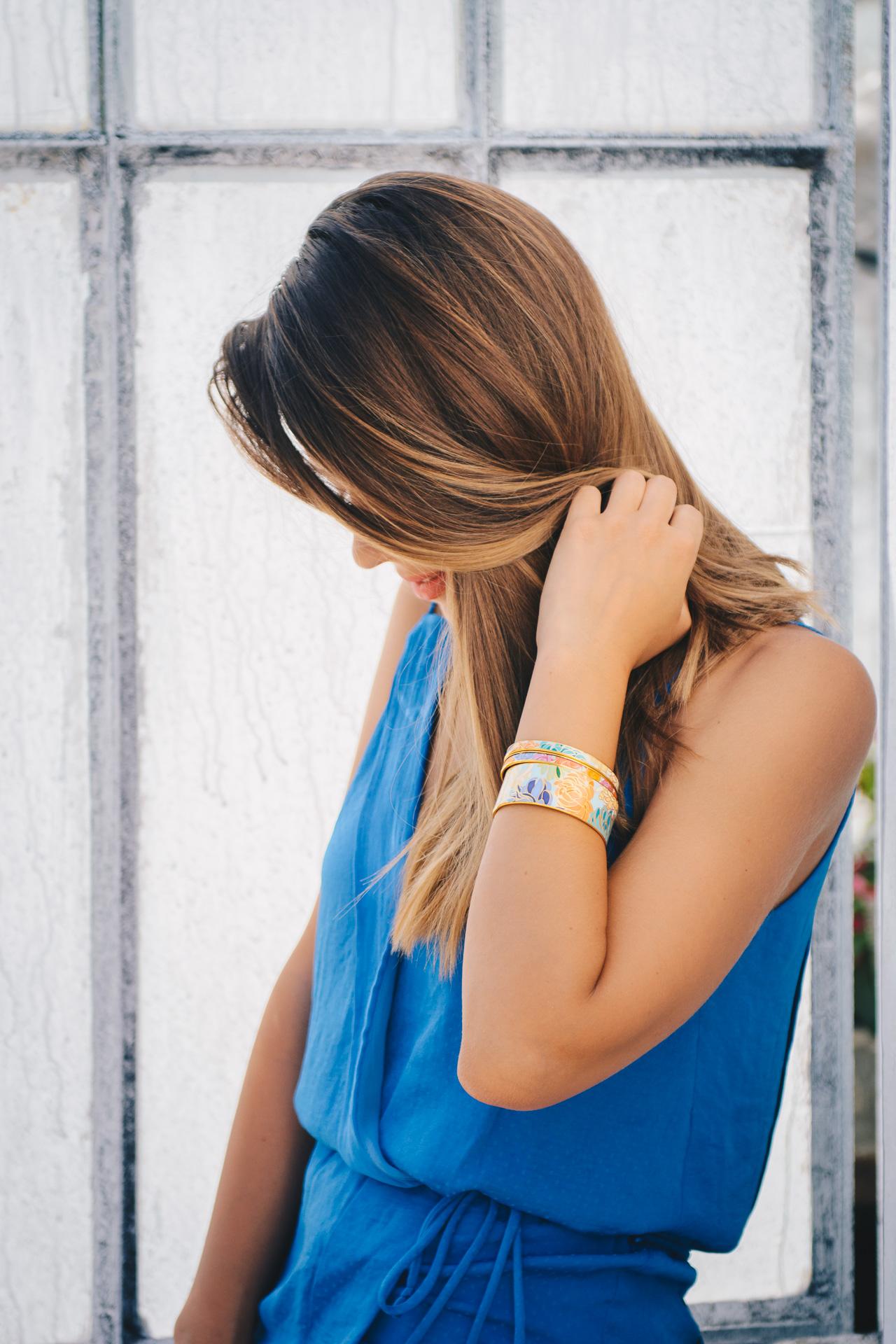 Blogger Honfleur aquamarin bracelets