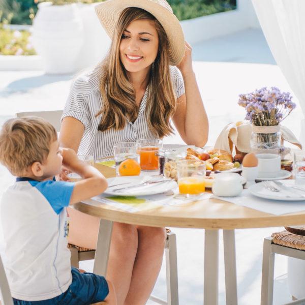 Mornings at nefeli mom and son 22062017