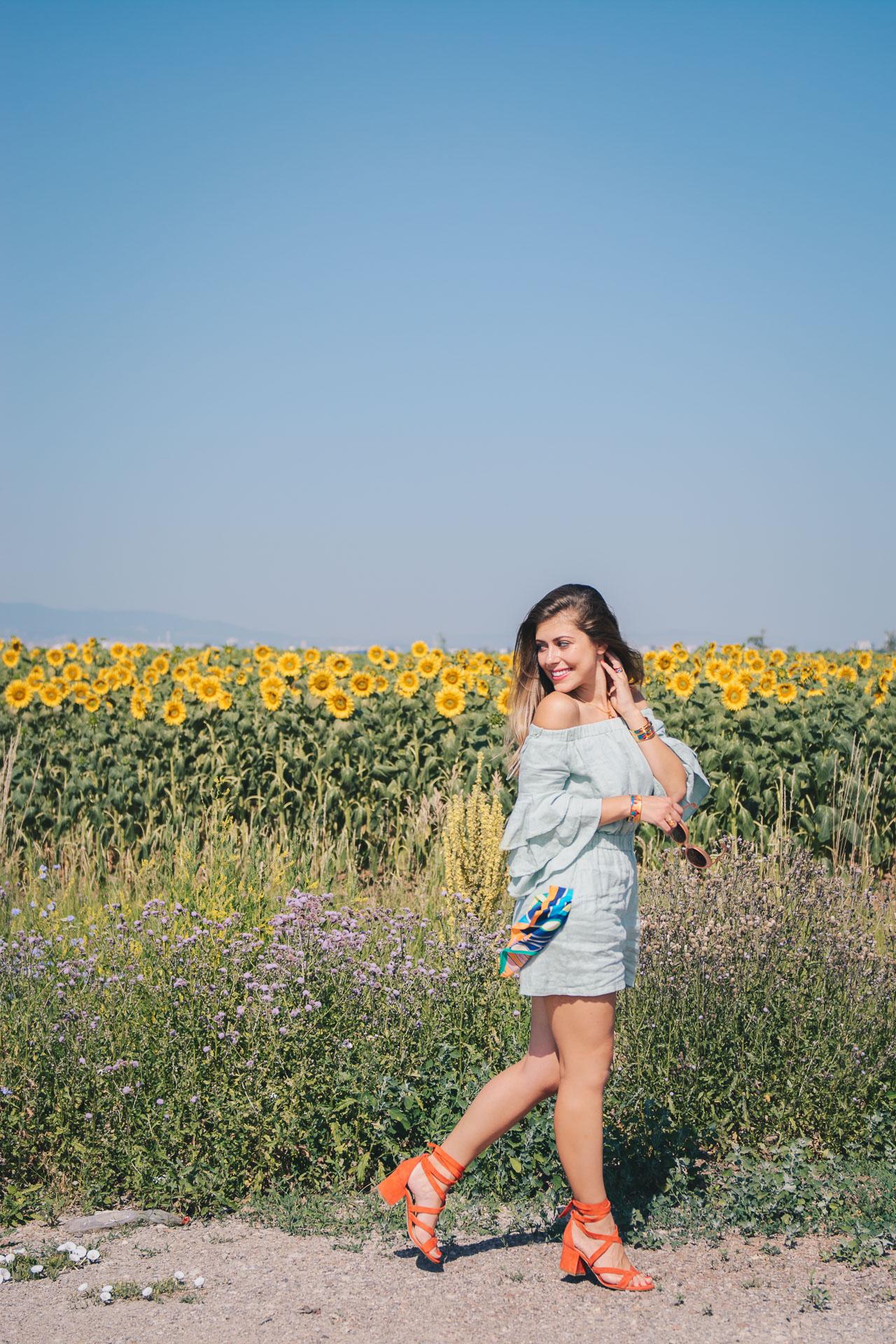 Bulgarian fashion blogger wearing freywille