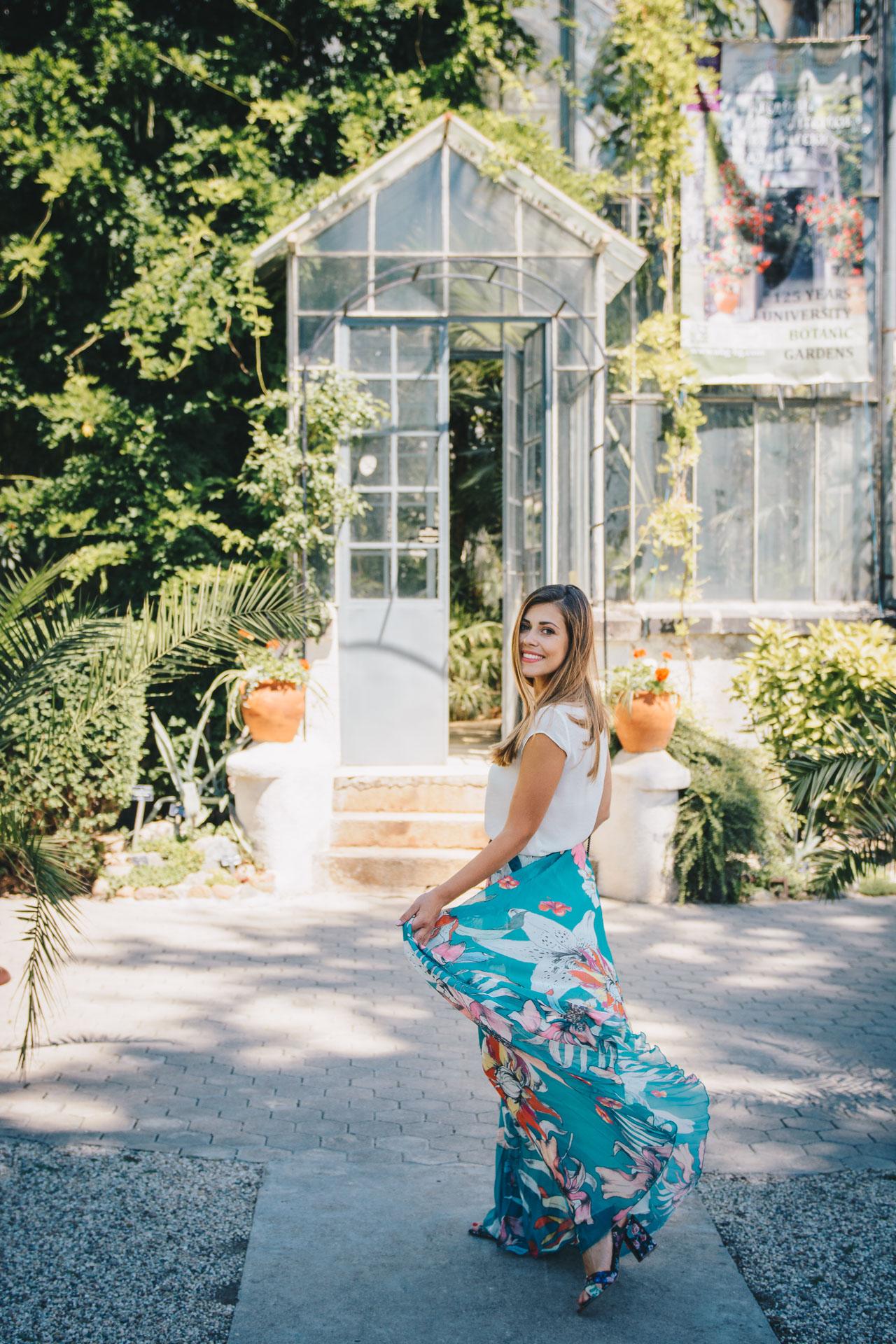 Floral skirt botanic garden