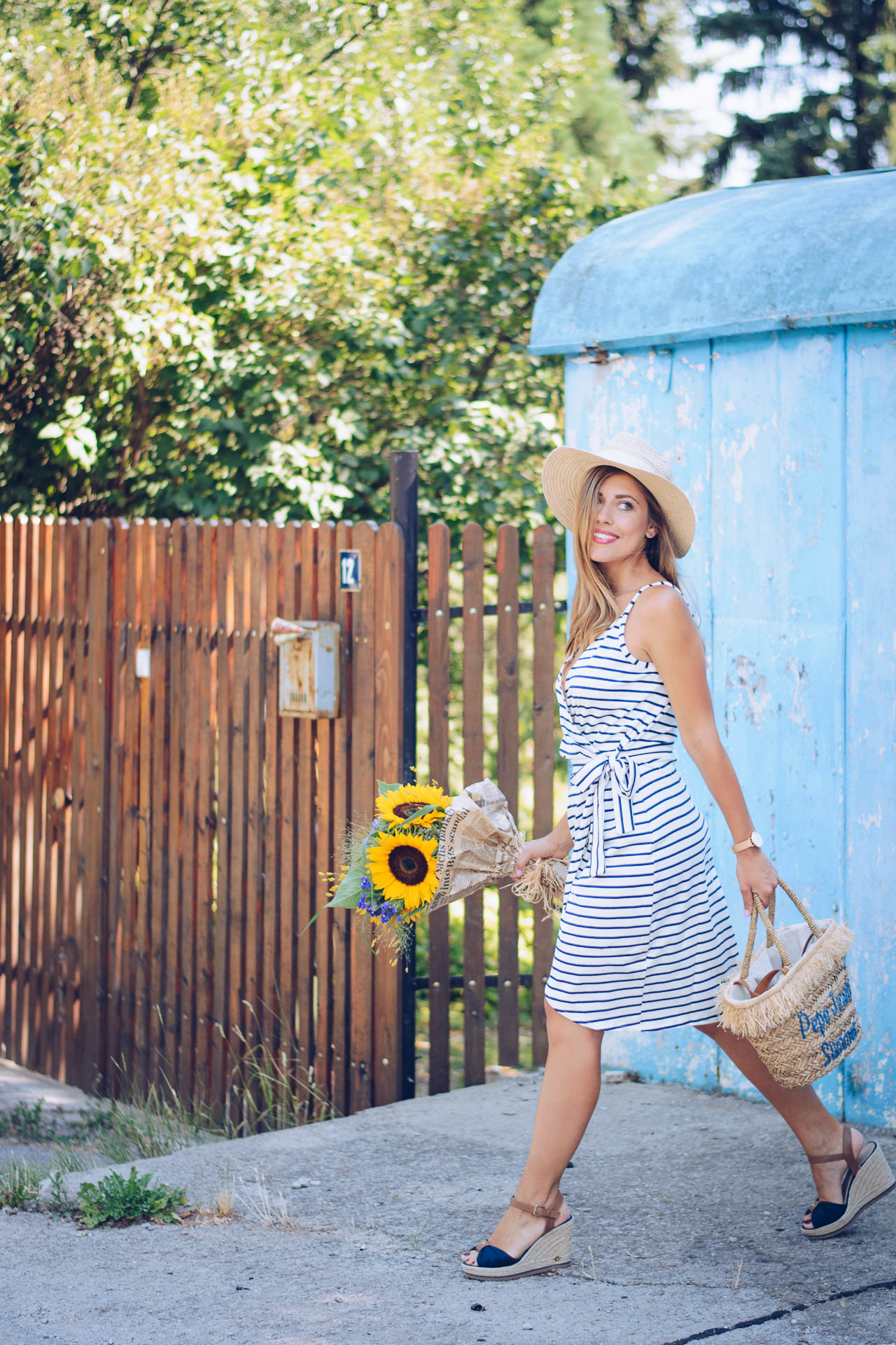 Marine striped dress top secret blogger
