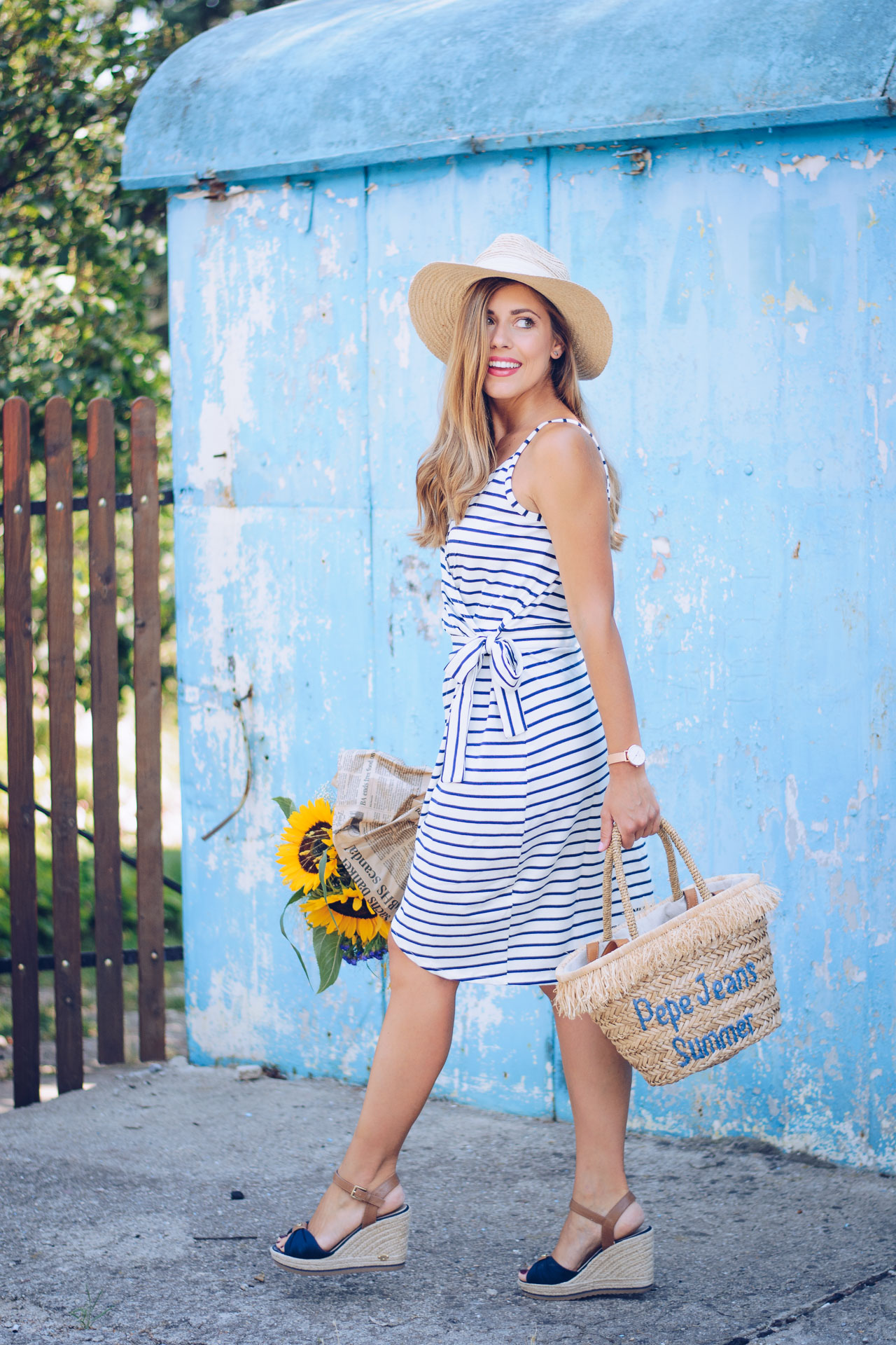 Marine striped dress top secret