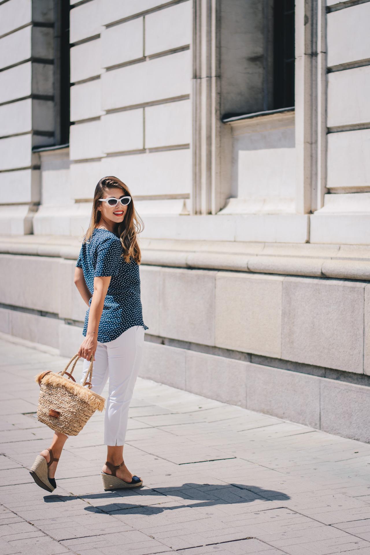 Polka dot shirt fashion blog