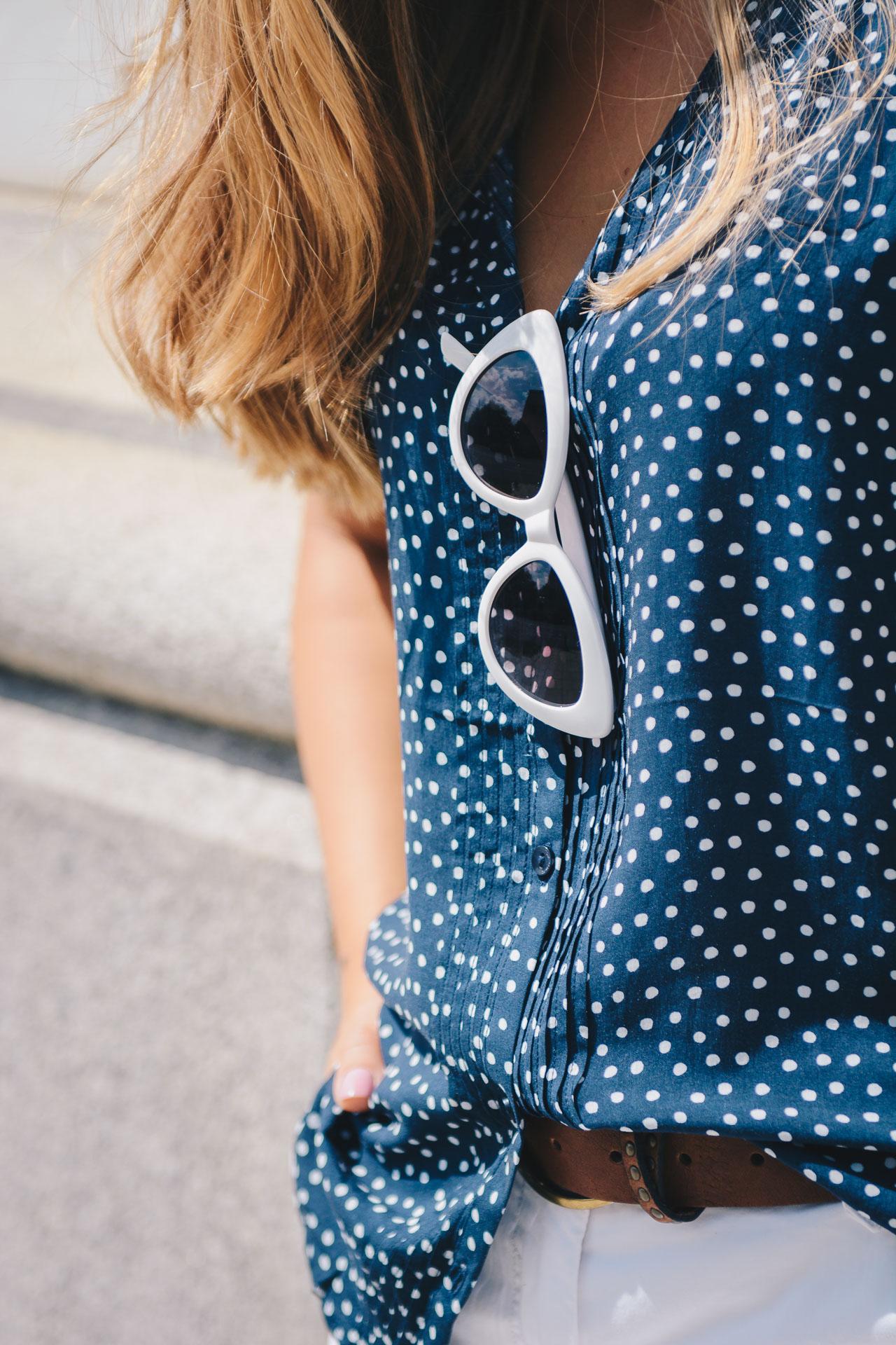 Retro white sunglasses