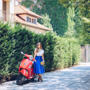 summer espace Tuscan style skirt furla handbag
