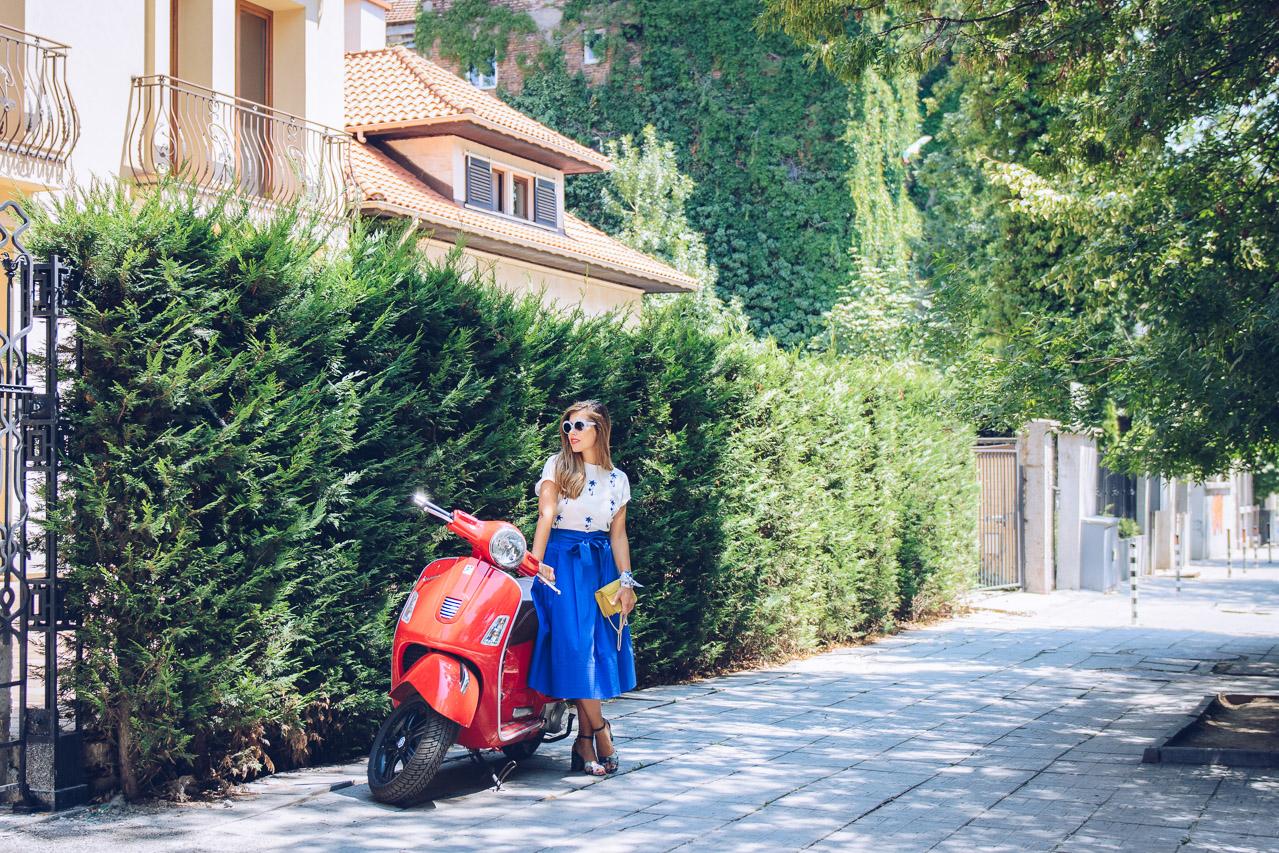 Tuscan style skirt furla handbag