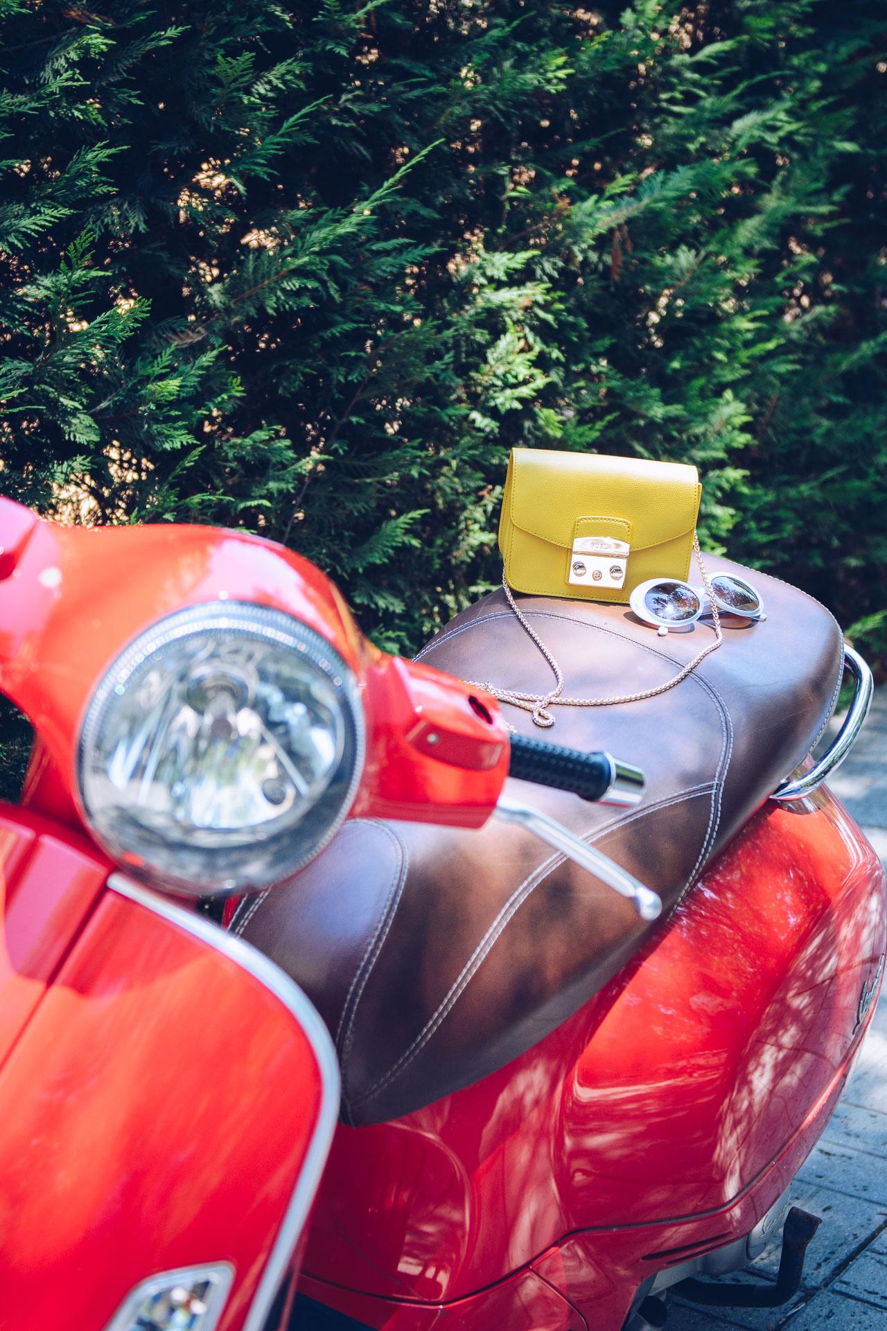Vespa scooter furla handbag