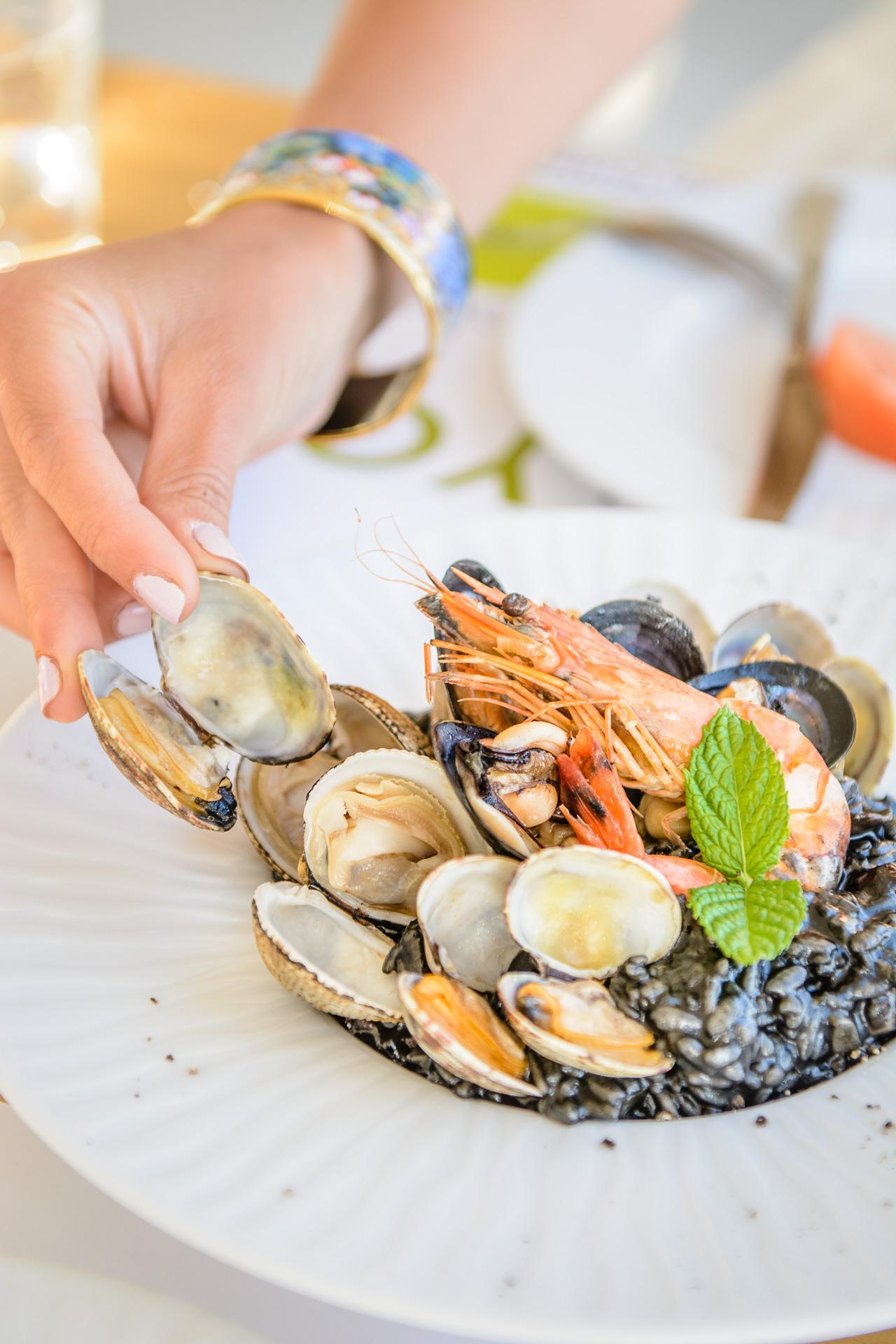 Aelia beach bar dinner risotto