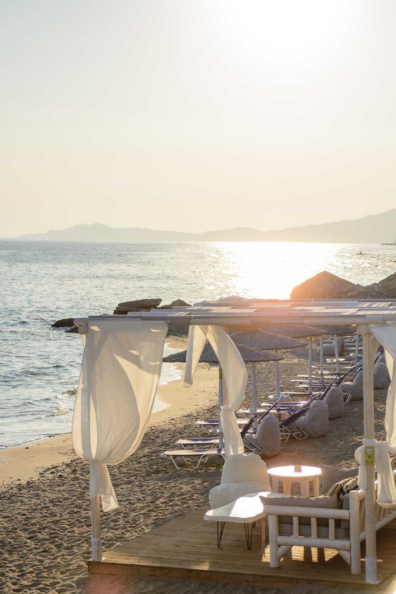 Aelia beach bar sunset