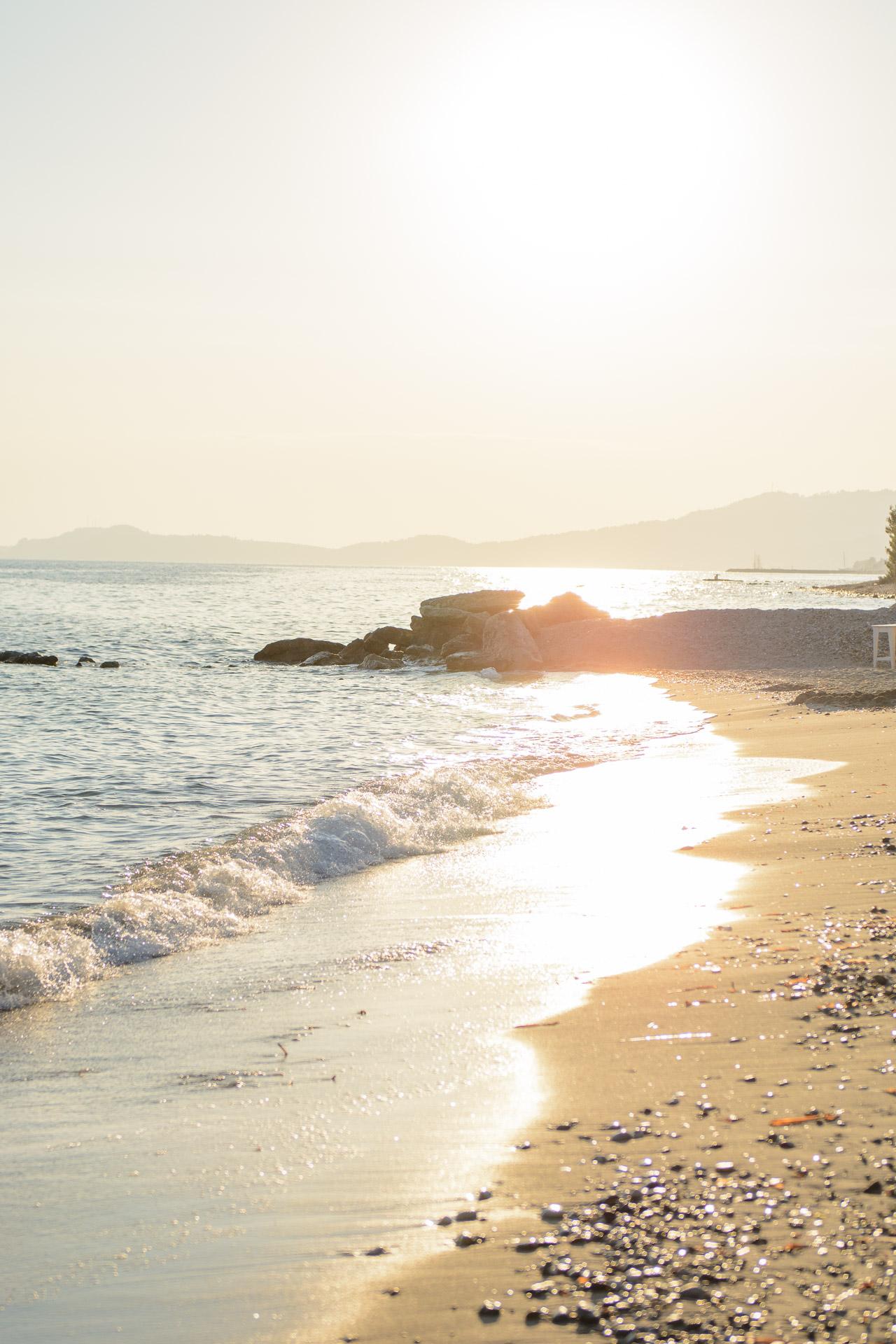 Aelia beach sunset greece
