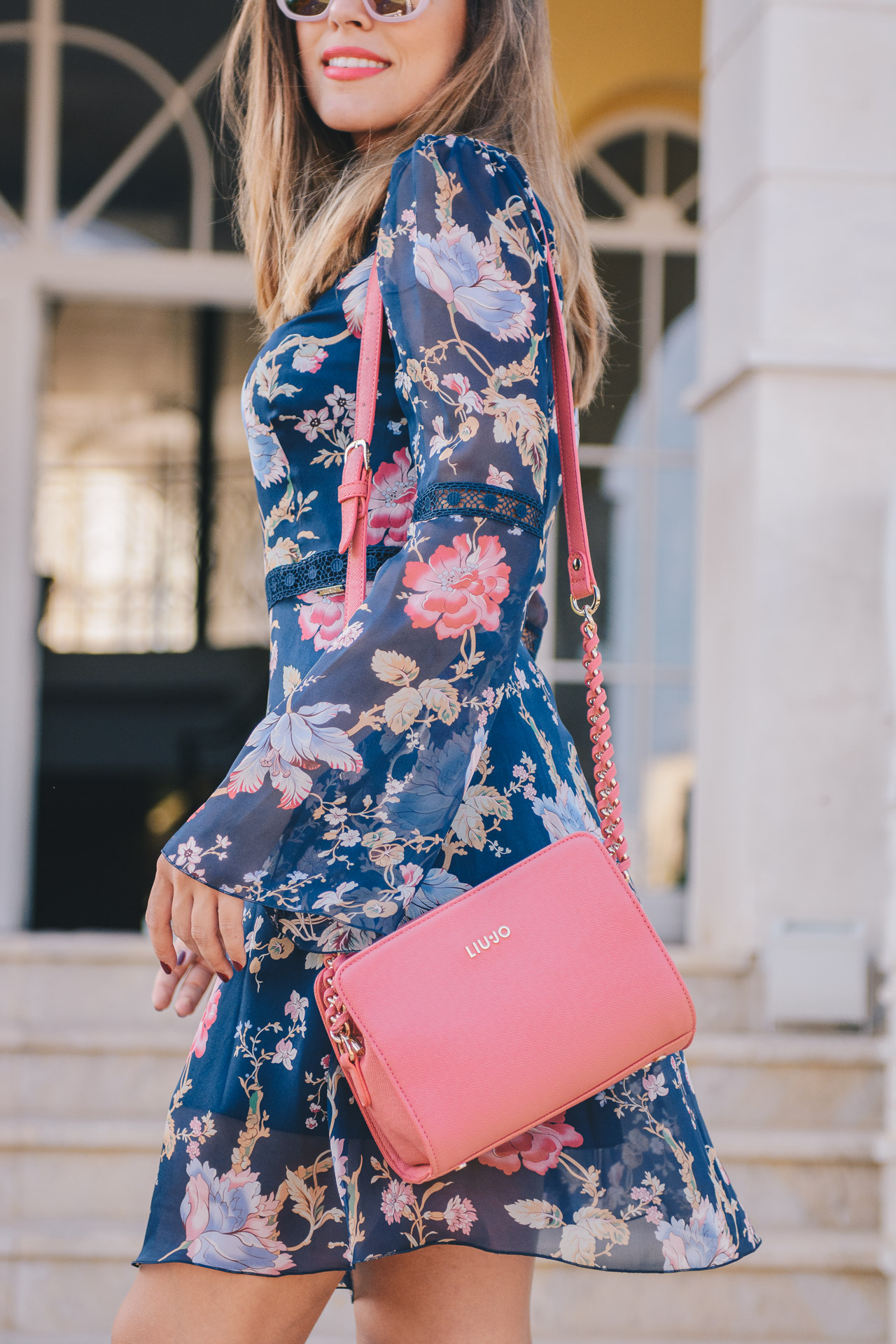 b34e020fe4 Romantic blogger silk voile dress Liu Jo silk voile dress