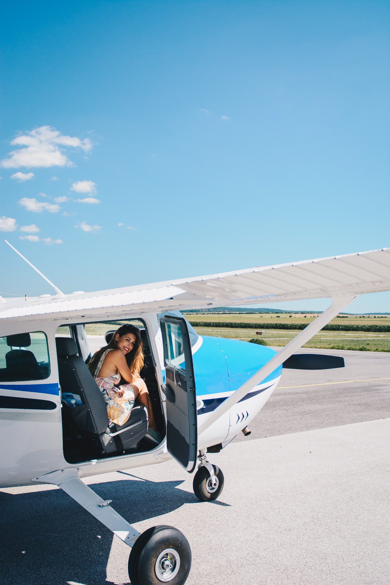 Private jet for blogger